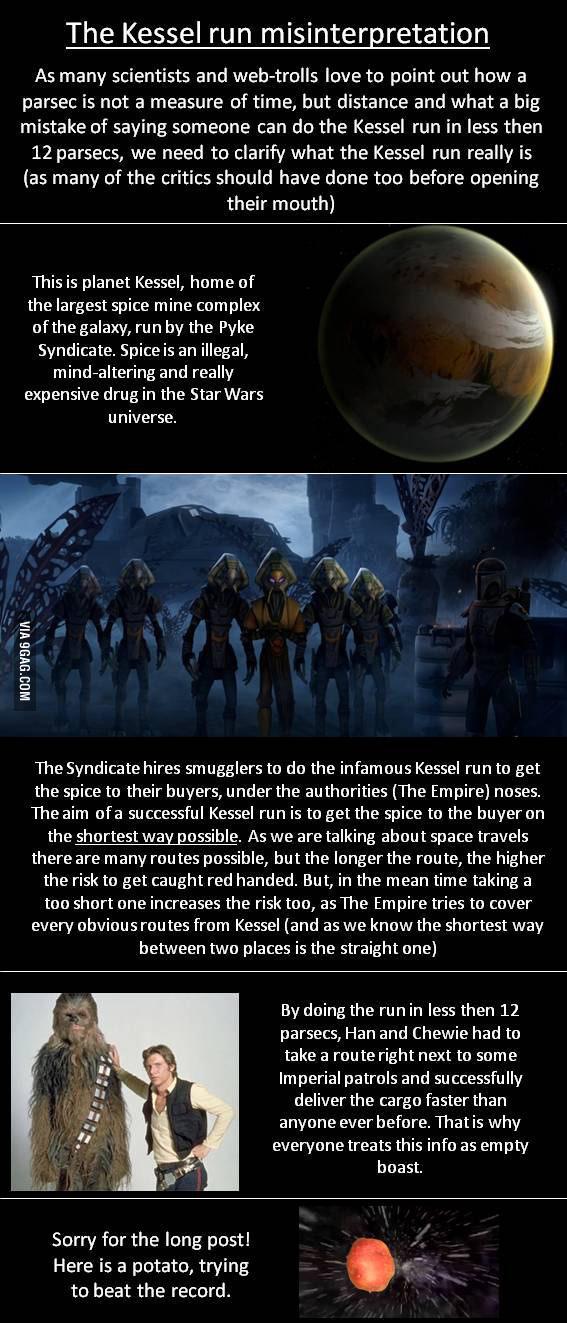 Star Wars - The Kessel Run Misinterpretation Explained